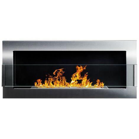 Selsey ASTRALIS - Cheminée bioéthanol - 90x40 cm - acier inoxydable - TÜV - style moderne