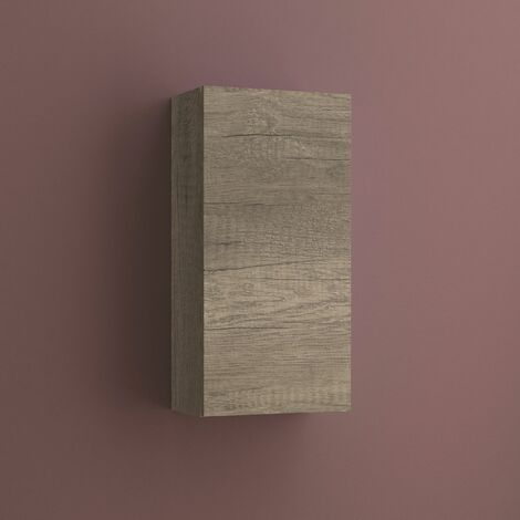 Armario auxiliar multiusos de una puerta. Medidas: largo 37cm, alto 74cm, fondo 21cm. Color roble gris.