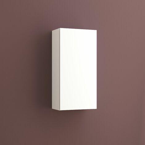 Armario auxiliar multiusos de una puerta. Medidas: largo 37cm, alto 74cm, fondo 21cm. Color blanco.