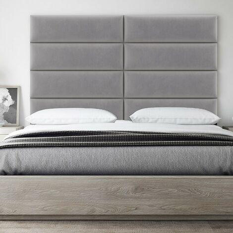 Decorative Panel Tufted Headboard Padded Wall 76cm Pplatinum Gray