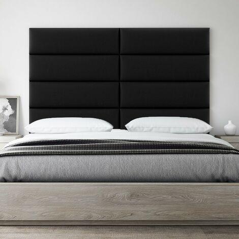 Decorative Panel Tufted Headboard Padded Wall 76cm Black