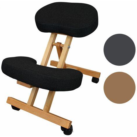 Tabouret, chaise ergonomique, siège assis genoux en bois pliable et réglable