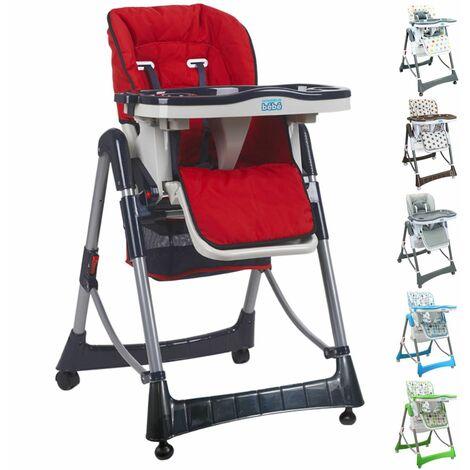 Chaise haute bébé pliable réglable hauteur, dossier et tablette - Ptit - Monsieur Bébé