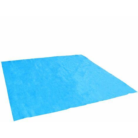 Tapis de sol et de protection bleu pour piscine - Linxor
