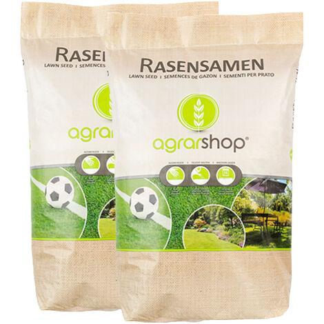 Semences à gazon Pelouse Universal 20 kg Prairie Semences d'herbe Ombre Jeu Sport Bain de soleil