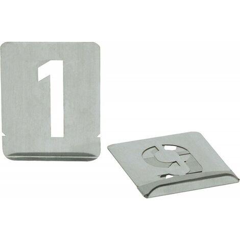 Numeri Stencil 0-9 Sh 40 Millimetri Turnus