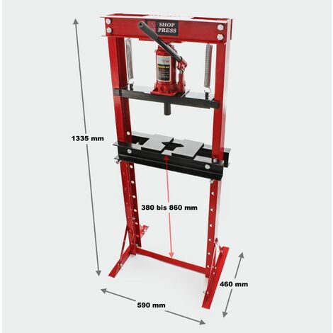 MercartoXL Presse d'atelier hydraulique avec force de pression de 12 tonnes