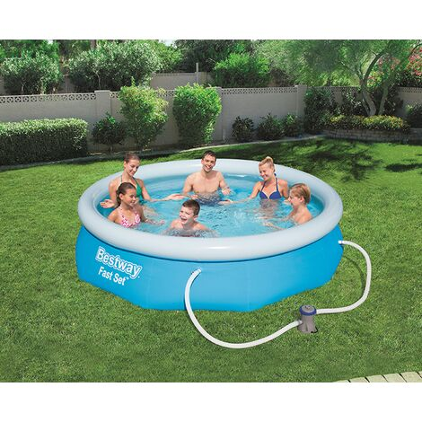 BestWay 10ft x 30inch Fast Set™ Above Ground Swimming Pool With Filter