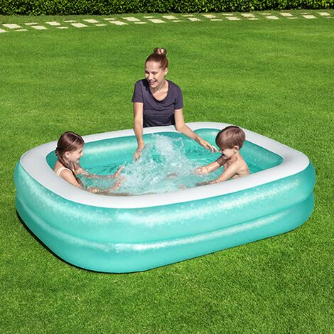 Bestway 2.01m x 1.50m x 51cm Blue Rectangular Paddling Pool