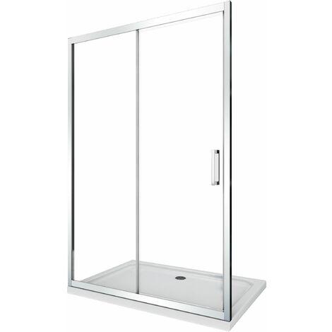 Cabine de douche de 6 millimètres pour installation en niche H.190 avec overture coulissant