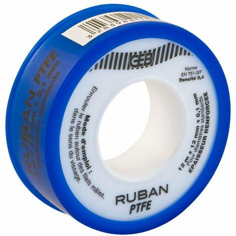 Ruban d'etancheite GEB OLIFAN PTFE epaisseur superieure, standard 12mmx12mx0,1mm cache bleu, Ref.815100
