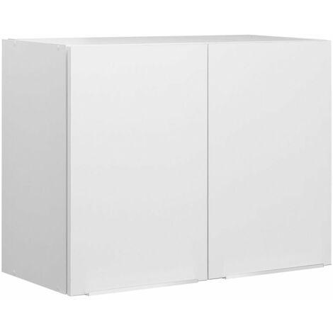 Meuble haut BOREALE ou CADETTE melamine simple 2 portes largeur 80 cm , MODERNA, Ref. ASCP080D05