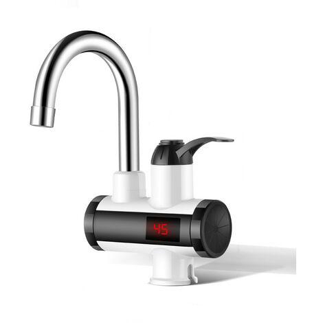 220V 3000W 360° Rotatif Robinet électrique Mitigeur de Cuisine Chaud-froid Chauffe-eau