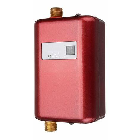 3800W Mini Chauffe-eau Instantané Electrique Température Réglable Automatique Pr Salle de Bain Cuisine Sasicare