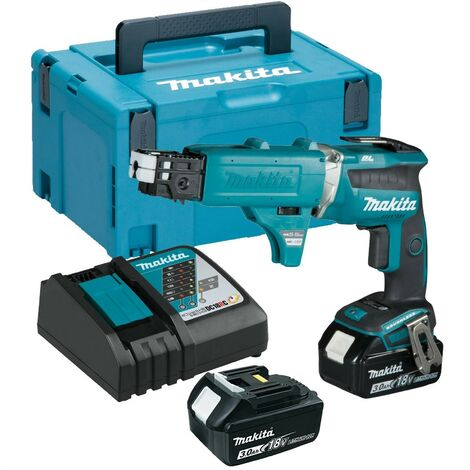Makita DFS452FJX2 18v Brushless Collated Autofeed Drywall Screwdriver -2 x 3.0ah