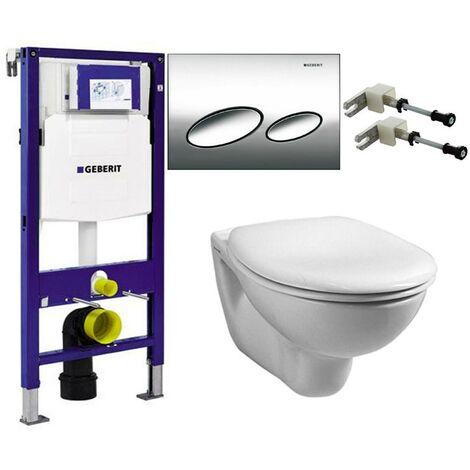 Geberit Duofix 0.82m WC Frame UP200 Sigma Cistern & Kappa10 Flush Plate & Pan