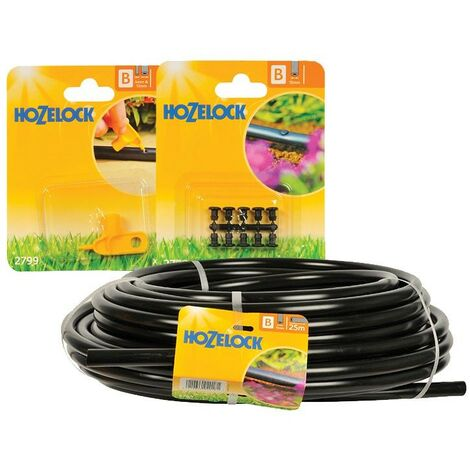 Hozelock 2764 25m Supply Hose 13mm with 2799 Hole Punch + 2779 Blanking Plug