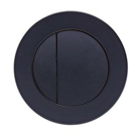 Roper Rhodes Round Dual Flush Plate Button Matt Black For TR9001 TR9002 TR9009