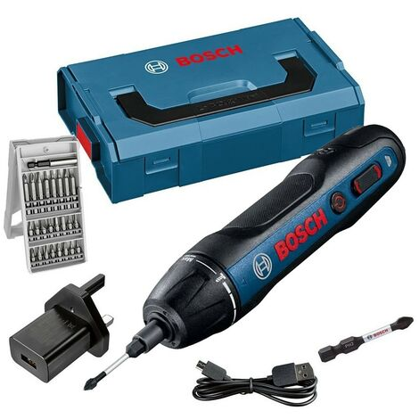 Bosch GO 3.6V Professional Screwdriver + 25 Piece Accessory Kit + Lboxx Case