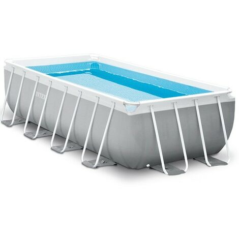 Piscina Elevada desmontable Intex 26788 ex 26776 Prism Frame rectangular 400x200x100