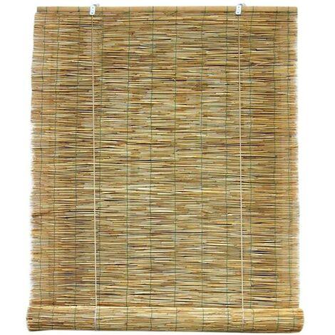 209752 Persiana de bambú con polea resistente a la intemperie 100 x 260 cm