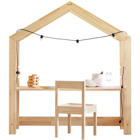 Selsey Jafari - Scrivania Per Cameretta Bambini / Design a Forma di Casa / Scrittoio per Bambini / Mobile per Cameretta Bambini / Scrivania in Legno