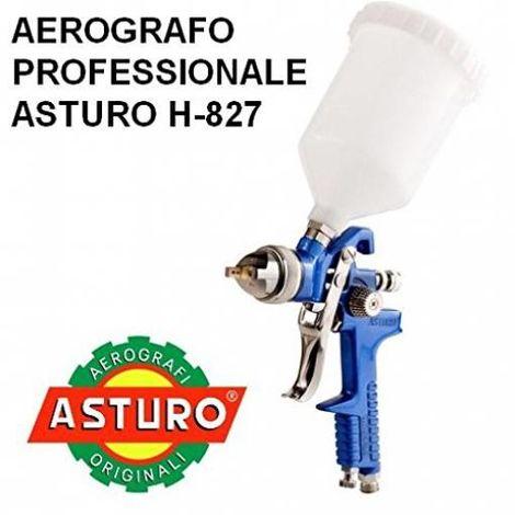 Aerografo H-827 professionale Asturo HVLP pistola verniciatura verniciare 600 cc