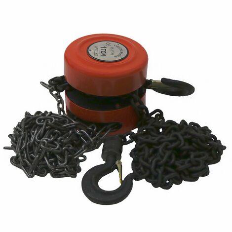 Oypla 1 Ton Chain Lifting Block & Tackle Hoist Heavy Duty Load