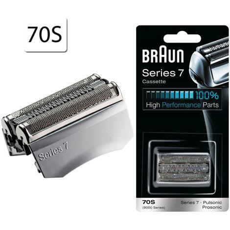 Tete de rasoir grise pour Serie 7 70S81387979 pour Epilateur - Rasoir - Tondeuse BRAUN