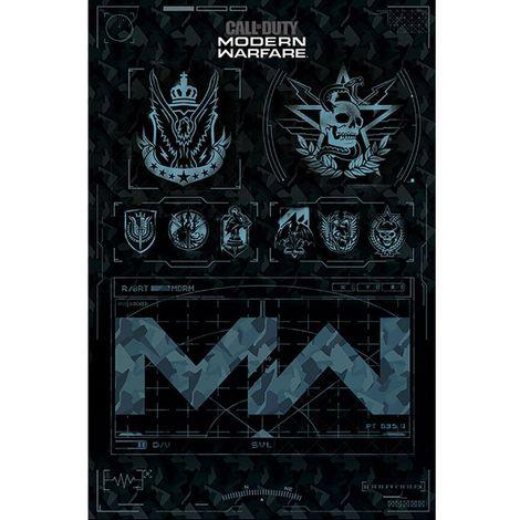 Call Of Duty Modern Warfare Poster (One Size) (Camo Blue)