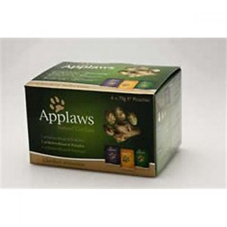 Applaws Chicken Multipack Wet Cat Food In Broth (12 Pouches) (12 x 70g) (May Vary)