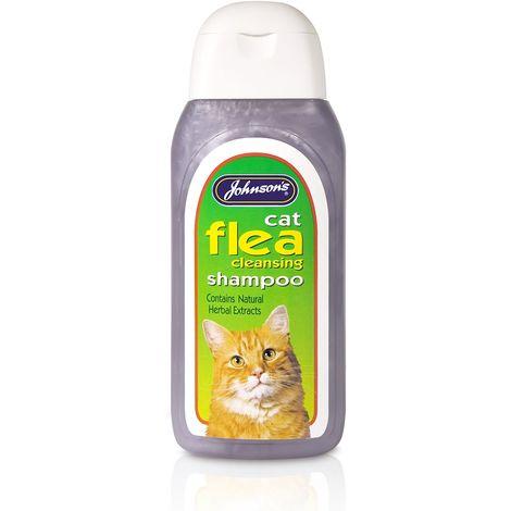 Johnsons Veterinary Cat Flea Cleaning Liquid Shampoo (125ml) (May Vary)