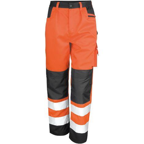 Result Safeguard Adults Unisex Hi Viz Cargo Trousers
