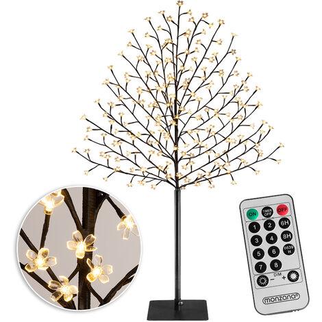 Deuba Lámpara cerezo con 200 o 220 LED iluminación interior exterior luz decoración base metálica 8 modos