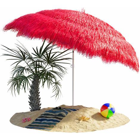 Sombrilla de playa jardín exterior Ø 160 cm Hawaii color a eligir con función de inclinación parasol reclinable