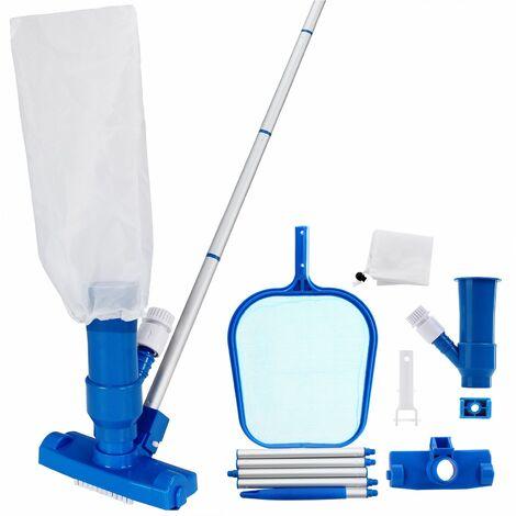 Set 3 piezas de limpieza de piscina – Aspiradora de piso Recolector Filtro y palo Kit de limpieza exterior