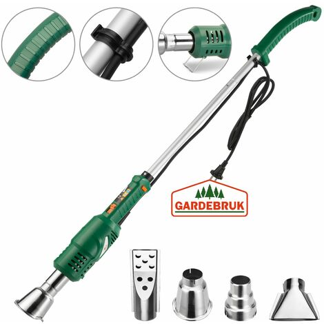 Gardebruck quemador eléctrico de malezas 2000W 50°C o 600°C boquillas desmalezadora ecológico herramientas de jardinería
