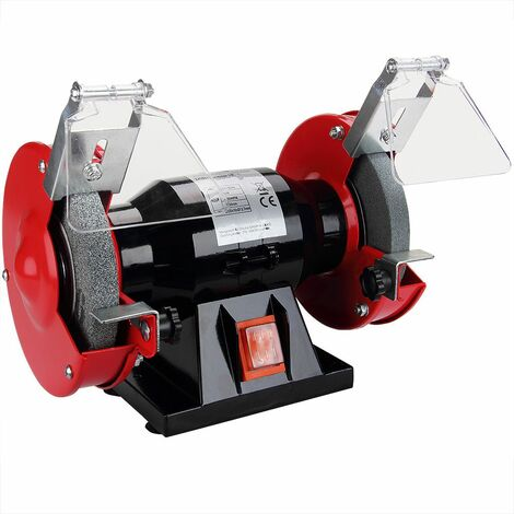Monzana Esmeriladora de banco 250W disco 2950/min 230V/50 Hz muelas tipo A36 A60 color Rojo Negro para taller bricolaje