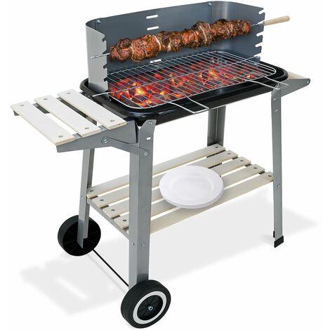 Deuba Barbecue a carbonella con carrello Peso 7kg bbq giardino grill a carbone