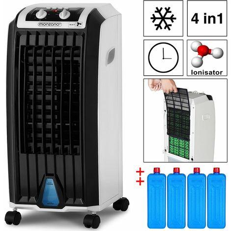 Condizionatore Portatile 4in1 Serbatoio 5L Modalità Notte Umidificatore Ventilatore Climatizzatore Ionizzatore Raffreddatore