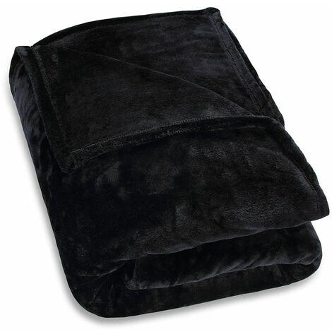 Plaid couverture microfibre XXL 280x 210cm–Couvre-lit wohnn Couverture