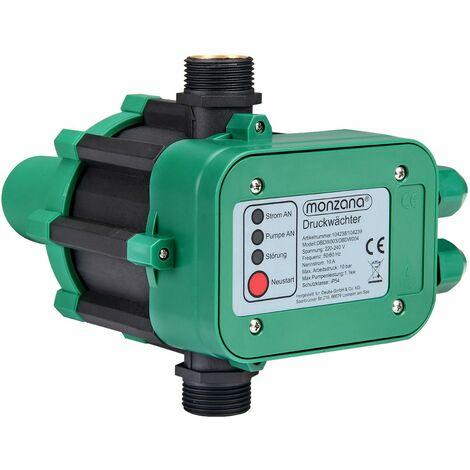 Contrôleur de pression pour pompe - Pressostat 10 bar avec câble Monzana