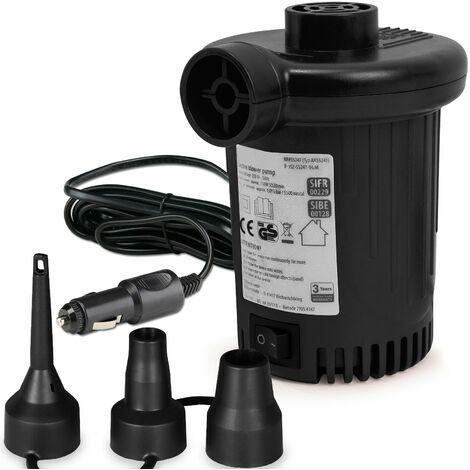 Pompe à air électrique 12V ou 230V avec 3 embouts matelas bouée pneus piscine