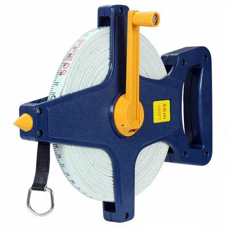 Ruban de mesure 50m / 100m / Mètre ruban 50m avec boîtier Travaux de précision