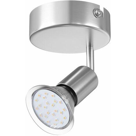 Monzana LED Deckenstrahler Spotleuchte 1 2 3 4 flammig schwenkbar GU10 inkl Leuchtmittel Deckenlampe Deckenleuchte