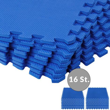 Monzana 16er Set Bodenschutzmatte Puzzlematte 3,24m² EVA Schaumstoff Pool Fitness Matte Bodenschutz Fitnessmatte Bodenmatte