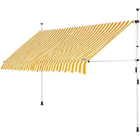 Detex Markise Balkonmarkise Klemmmarkise 150 - 400cm Sonnenmarkise UV- und witterungsbeständig