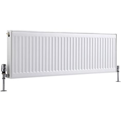 Radiateur Horizontal À Panneaux – Blanc – Type 21 – 40 x 120cm – Eco