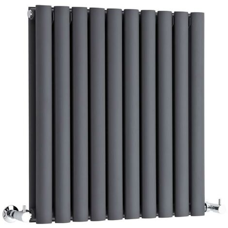 Hudson Reed Vitality – Radiateur Design Horizontal – Anthracite – 63,5 x 59 cm Double Rang