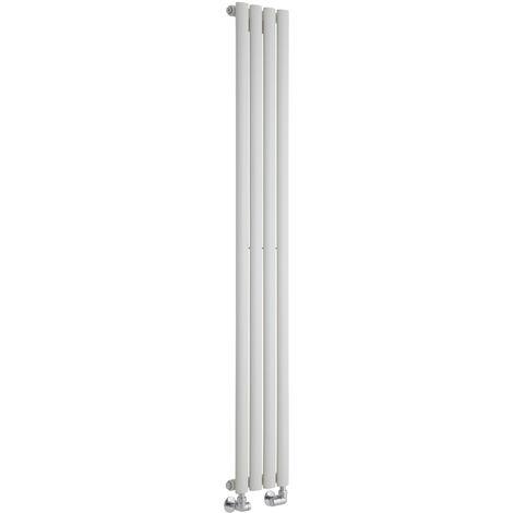 Hudson Reed Vitality – Radiateur Design Vertical – Blanc – 160 x 23,6cm